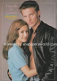 Kimberly McCullough and Steve Burton (Robin and Jason on General Hospital)