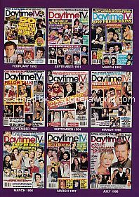 Collage of Cover Shots of Daytime TV soap opera magazine from 1990-1998
