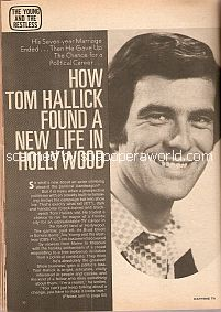 Interview with Tom Hallick (Brad Elliott on the CBS soap opera, The Young & The Restless)