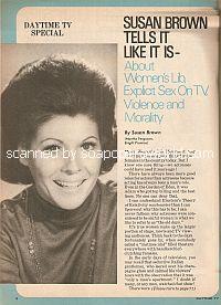 Susan Brown Tells It Like It Is (Martha Ferguson on soap opera, Bright Promise)