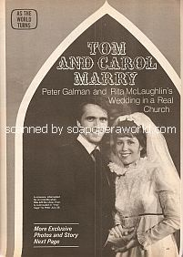 Tom and Carol Marry on As The World Turns