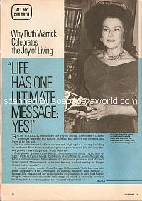 Interview with Ruth Warrick (Phoebe on the soap opera, All My Children)