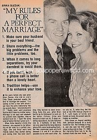 Erika Slezak:  My Rules For A Perfect Marriage