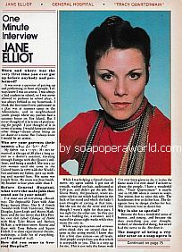 One Minute Interview with Jane Elliot of General Hospital