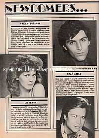 Soap Opera Newcomers featuring Vincent Irizarry (Lujack on Guiding Light)