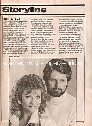 Guiding Light Storyline featuring Josh & Reva (Robert Newman & Kim Zimmer)