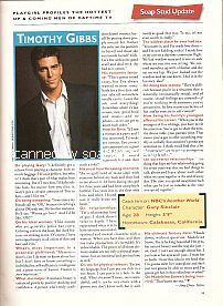 Interview with Timothy Gibbs (Gary Sinclair on the NBC soap opera, Another World)