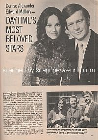 Daytime's Most Beloved Stars featuring Denise Alexander & Edward Mallory
