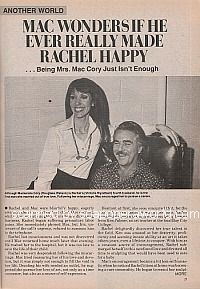 Mac Wonders If He Ever Really Made Rachel Happy on Another World