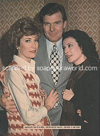 Maeve McGuire, Donald May & Dixie Carter (Nicole, Adam and Brandy on The Edge Of Night)