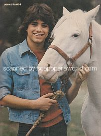 John Stamos and horse