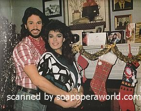 Peter Reckell and Kristian Alfonso of Days Of Our Lives 1986