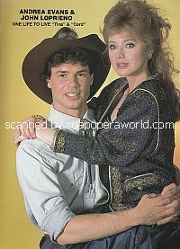 John Loprieno and Andrea Evans (Cord and Tina on One Life To Live)