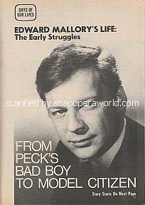 Edward Mallory's Life:  The Early Struggles