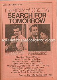 The Story Of CBS-TV's Search For Tomorrow