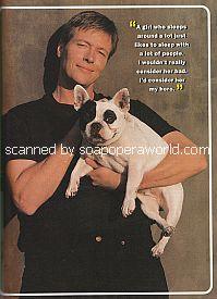 Jack Wagner and his bulldog