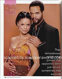 Kristoff St. John and Victoria Rowell (Neil and Drucilla on The Young and The Restless)