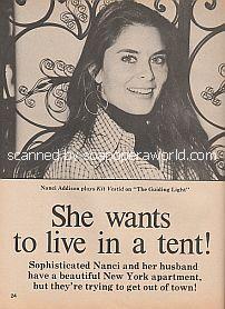 Interview with Nancy Addison (Nancy plays Kit Vestid on The Guiding Light)