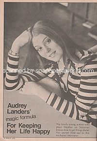 Interview with Audrey Landers (Heather Lawrence on Somerset)