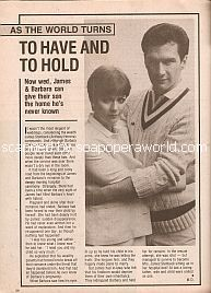 As The World Turns - To Have and To Hold featuring Colleen Zenk & Anthony Herrera (Barbara & James on ATWT)