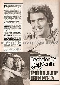 Bachelor Of The Month:  Philip Brown (Steve Kendall on Search For Tomorrow)