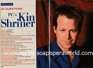 20 Questions with Kin Shriner (Scott Baldwin on the ABC soap opera, Port Charles)