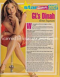 Star To Watch In 2007:  Gina Tognoni (Dinah on Guiding Light)