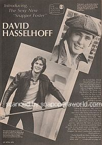 introducing David Hasselhoff (Snapper Foster on Y&R)
