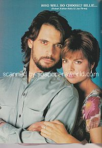 Robert Kelker-Kelly and Lisa Rinna (Bo and Billie on Days Of Our Lives)