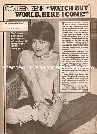 Interview with Colleen Zenk (Barbara on the soap opera, As The World Turns)