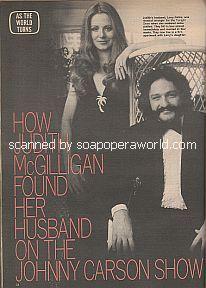 Interview with Judith McGilligan (Elizabeth Stewart on As The World Turns)