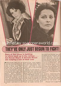 Real-Life Fight between Days Of Our Lives co-stars Susan Seaforth Hayes & Brenda Benet