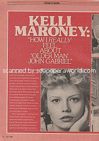 Interview with Kelli Maroney (Kimberly Harris on the soap opera, Ryan's Hope)