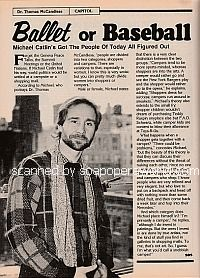 Interview with Michael Catlin (Dr. Thomas McCandless on the soap opera, Capitol