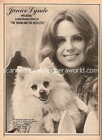Interview with Janice Lynde (Leslie Brooks on the soap opera, The Young & The Restless)