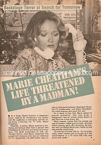 Marie Cheatham's Life Threatened By A Madman!
