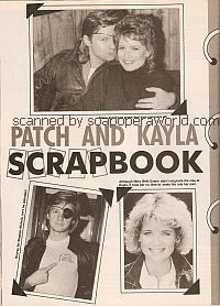 Patch and Kayla Scrapbook with Stephen Nichols & Mary Beth Evans of Days Of Our Lives)