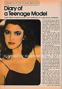 Interview with Cindy Gibb (Suzi on the soap opera, Search For Tomorrow)
