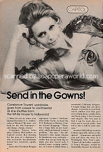 Interview with Constance Towers (Clarissa McCandless on the soap opera, Capitol)