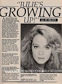 Interview with Lauren Holly (Julie on the ABC soap opera, All My Children)
