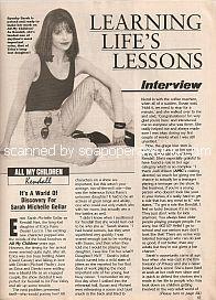 Interview with Sarah Michelle Gellar (Kendall on All My Children)