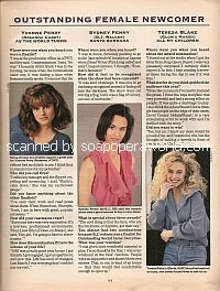 Outstanding Female Newcomer for the 1993 Soap Opera Digest Awards
