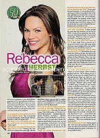 Interview with Rebecca Herbst (Elizabeth Webber on General Hospital)