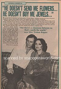 Interview with the real-life wife of General Hospital star Tristan Rogers