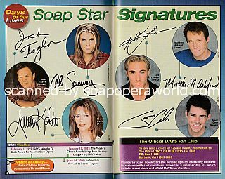 Soap Star Signatures with the cast of Days Of Our Lives