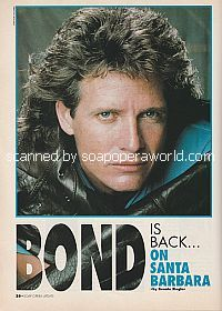 Interview with Steve Bond (MacKenzie Blake on the soap opera, Santa Barbara)