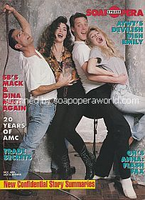 Rear Cover featuring DAYS co-stars George Jenesky, Lisa Howard, Matthew Ashford and Melissa Reeves)