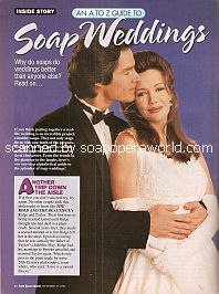 Soap Weddings featuring Ronn Moss & Hunter Tylo (Ridge and Taylor on The Bold and The Beautiful)