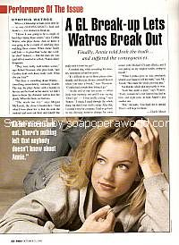 Cynthia Watros played the role of Annie Dutton on Guiding Light