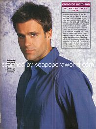 Soaps' Most Beautiful People featuring Cameron Mathison (Ryan on All My Children)